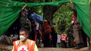 Authorities call effort to save trapped youth soccer team a race against time; Jeff Paul reports from Chiang Rai, Thailand.