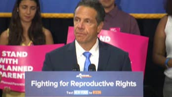 New York Governor Andrew Cuomo in New York City on the eve of President Trump announcing his Supreme Court pick.