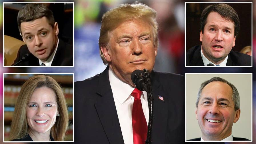 President Trump's Supreme Court finalists are reportedly Raymond Kethledge, Thomas Hardiman, Brett Kavanaugh and Amy Coney Barrett; chief White House correspondent John Roberts reports.