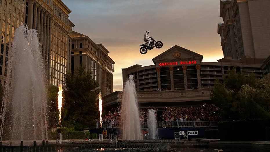 Travis Pastrana successfully recreates three Evel Knievel jumps