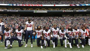 The league's new national anthem policy requires all players on the field to stand during the anthem or stay in the locker room; Trace Gallagher reports from Los Angeles.