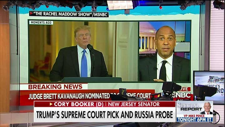 Cory Booker Rips President Trump Supreme Court Pick of Brett Kavanaugh