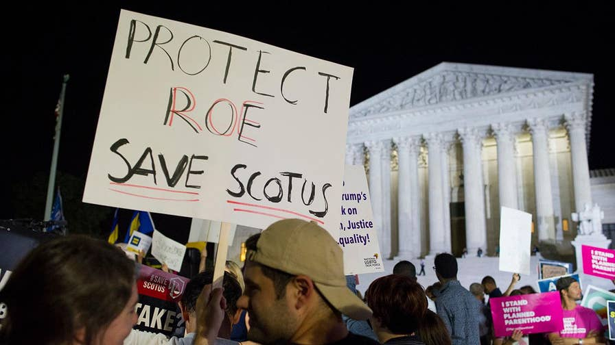 The left protests Judge Kavanaugh as a potential Supreme Court justice. Panel debates on 'The Ingraham Angle.'