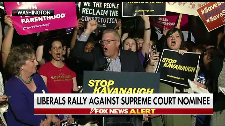 Protesters React to Kavanaugh Choice on Supreme Court