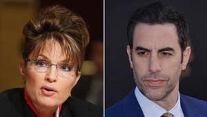 Sarah Palin slams 'evil' actor Sacha Baron Cohen for fake sit-down interview.