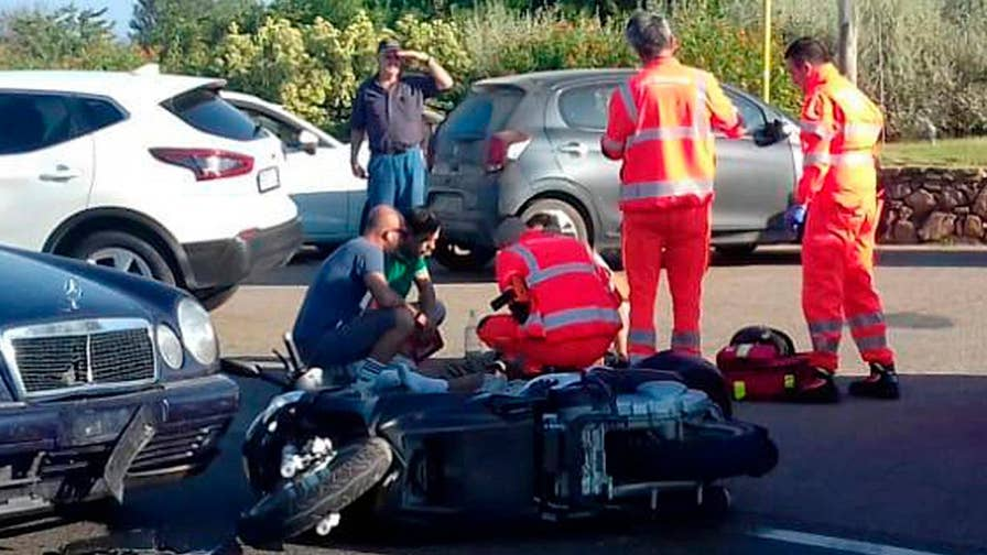 Hollywood Nation: 2-time Oscar winner collided with a car on his way to a film set in Italy.