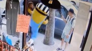 Attack on man dressed in Minion costume caught on surveillance camera in Daytona Beach.