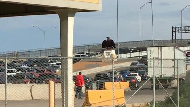 Border agents stopping migrants on bridges
