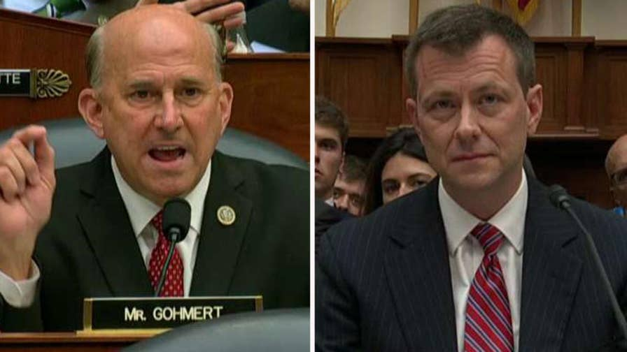 Republican congressman from Texas says the anti-Trump FBI agent is a disgrace to the justice system, says Strzok's infidelity speaks to character issues.