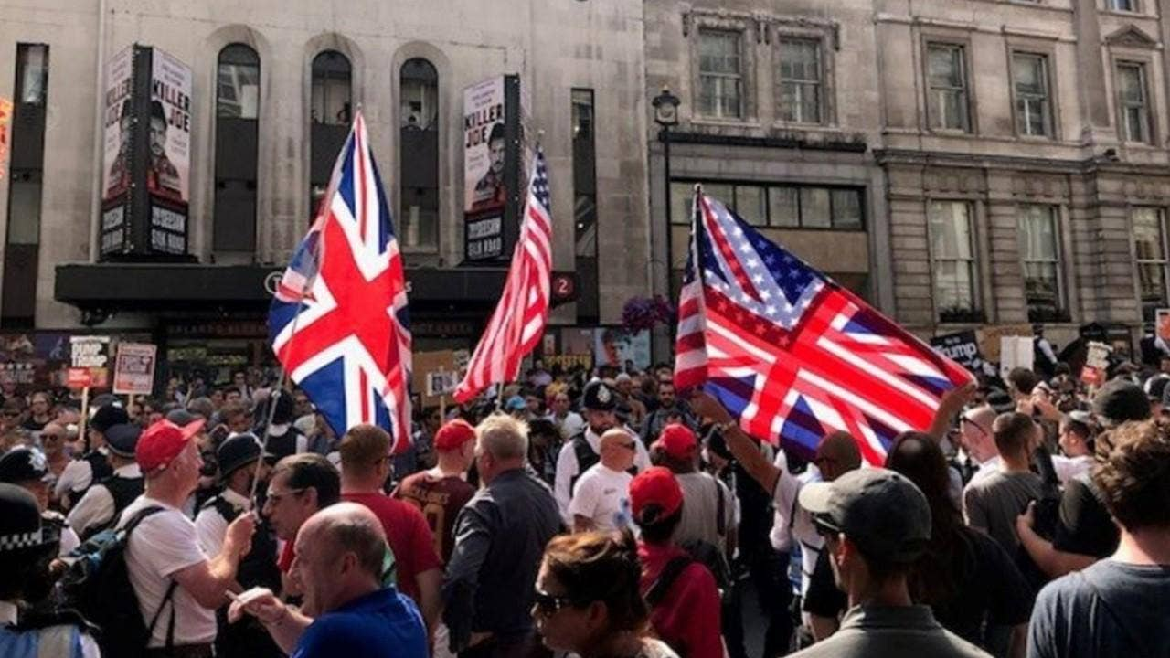 Dan Gainor: Media revel in London anti-Trump protests as obsession with Russia continues