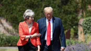 President Trump backtracks on comments about Prime Minister May's handling of Brexit; chief White House correspondent John Roberts reports from London.