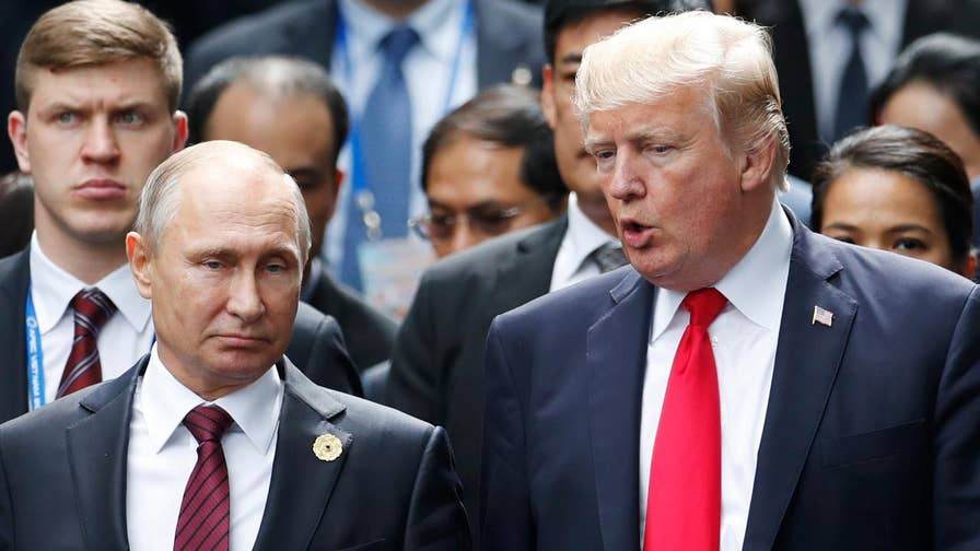 President says Russian leader is not his enemy; military analyst Rebecca Grant explains the language used.
