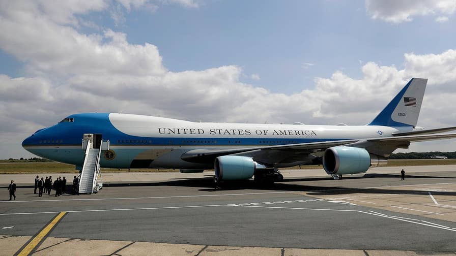 President reportedly requesting a more patriotic paint-job on the Boeing 747s along with bigger, more comfortable beds.