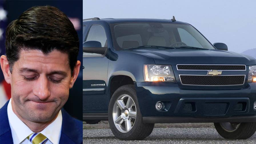 While talking to the Economic Club of Washington D.C. Paul Ryan bemoaned that he has not been able to drive since becoming speaker of the house. His Chevrolet Suburban, which was stored at his mother's house, stopped working because it was apparently destroyed by woodchucks.