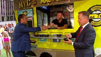 New York City's Mac Truck visits 'Fox & Friends.'