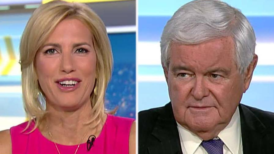 Former House speaker Newt Gingrich reacts on 'The Ingraham Angle' after Mueller indicts 12 Russian intelligence officers ahead of Trump's meeting with Putin.