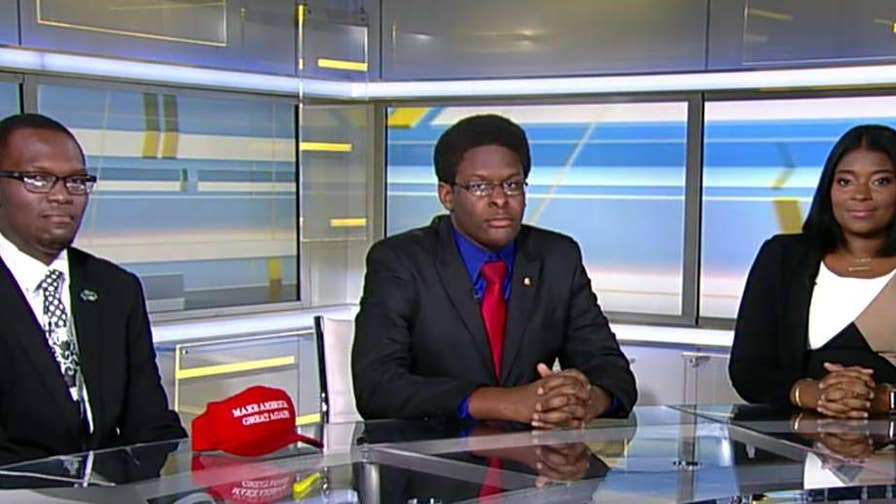 GOP interns who claim they were forced out of an Uber driver's car over MAGA hats share their story on 'The Ingraham Angle.'
