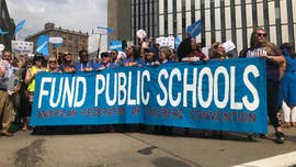 Through a blazing heat, a crowd of more than 3,000 teachers and union workers organized and marched in Pittsburgh on Saturday as they vowed to make their voiced heard in apparent defiance to the Supreme Court's recent decision.
