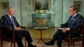 "Russian President Vladimir Putin, in an occasionally combative interview with Fox News' Chris Wallace, called it ""utterly ridiculous"" that some people think the Russians could have swayed millions of American voters in the 2016 election, while insisting his country did not have dirt on President Trump or his family."
