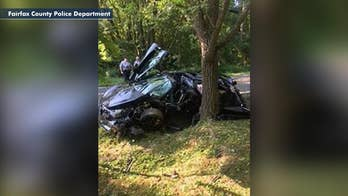 Luxury McLaren 720S sports car totaled the day after it was purchased in Great Falls, Virginia.