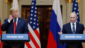President Trump says special counsel Robert Mueller's investigation has been 'a disaster for our country' and has had 'negative impact' on U.S.-Russia relations; Vladimir Putin calls claims of collusion with Trump campaign 'nonsense.'