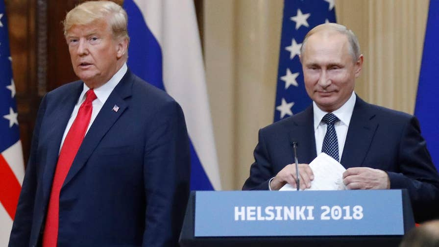 Russian President Vladimir Putin says the Cold War is over, U.S. and Russia should work together and denies Russian interference in U.S. presidential election; President Donald Trump says U.S., Russia must 'cooperate in pursuit of shared interests.'