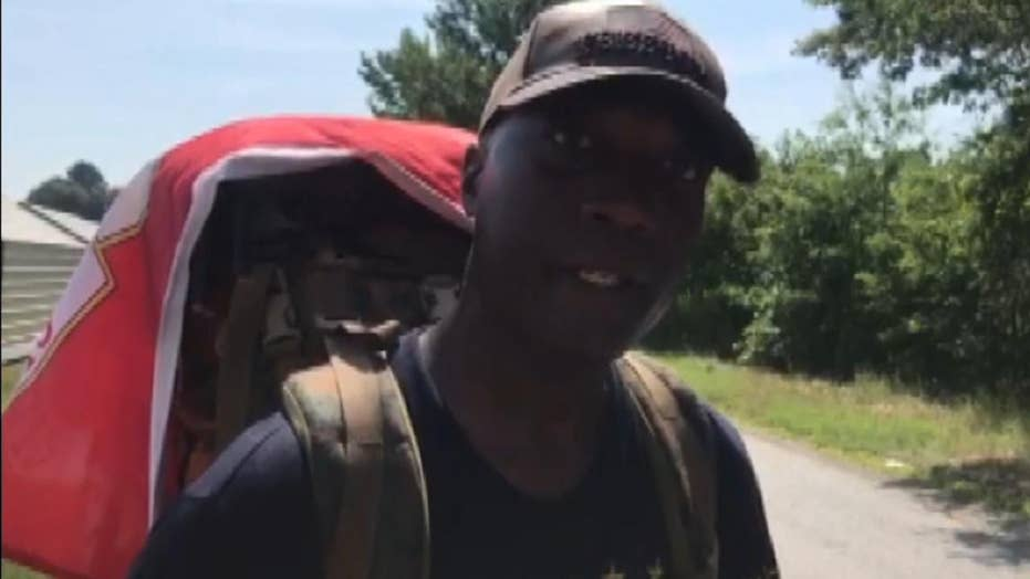 Veteran walking across the US to raise PTSD awareness