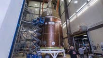 The five-story replica of the vehicle that NASA hopes will take astronauts to Mars is subjected to all kinds of tests and environments the real spacecraft will be exposed to both during and after launch.