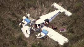 Authorities said three people were killed after two small planes crashed midair over the Florida Everglades near Miami Tuesday afternoon.