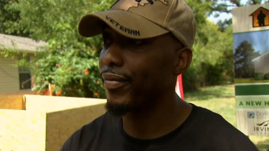 U.S. Army Major Eric King, who served for 13 years and was injured in an IED explosion, surprised with the gift of a custom, mortgage-free home in Irving, Texas.