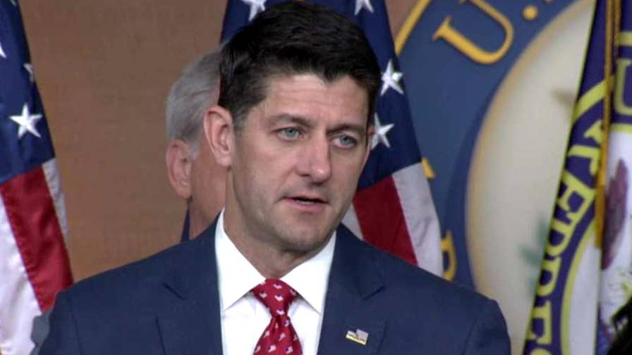 House speaker says Russia has meddled in U.S. and global elections when questioned by reporters on President Trump's press conference with Vladimir Putin.