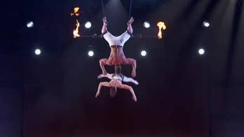 A married trapeze duo suffered a serious accident during their live 'America's Got Talent' act.