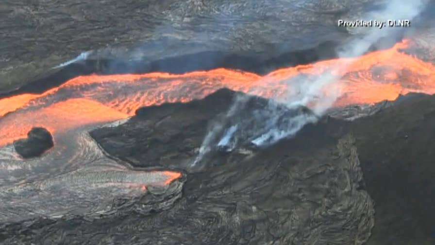 Officials search to find safe volcano viewing areas on land for tourists following 'lava bomb' incident which injured 23 people on a tour boat.