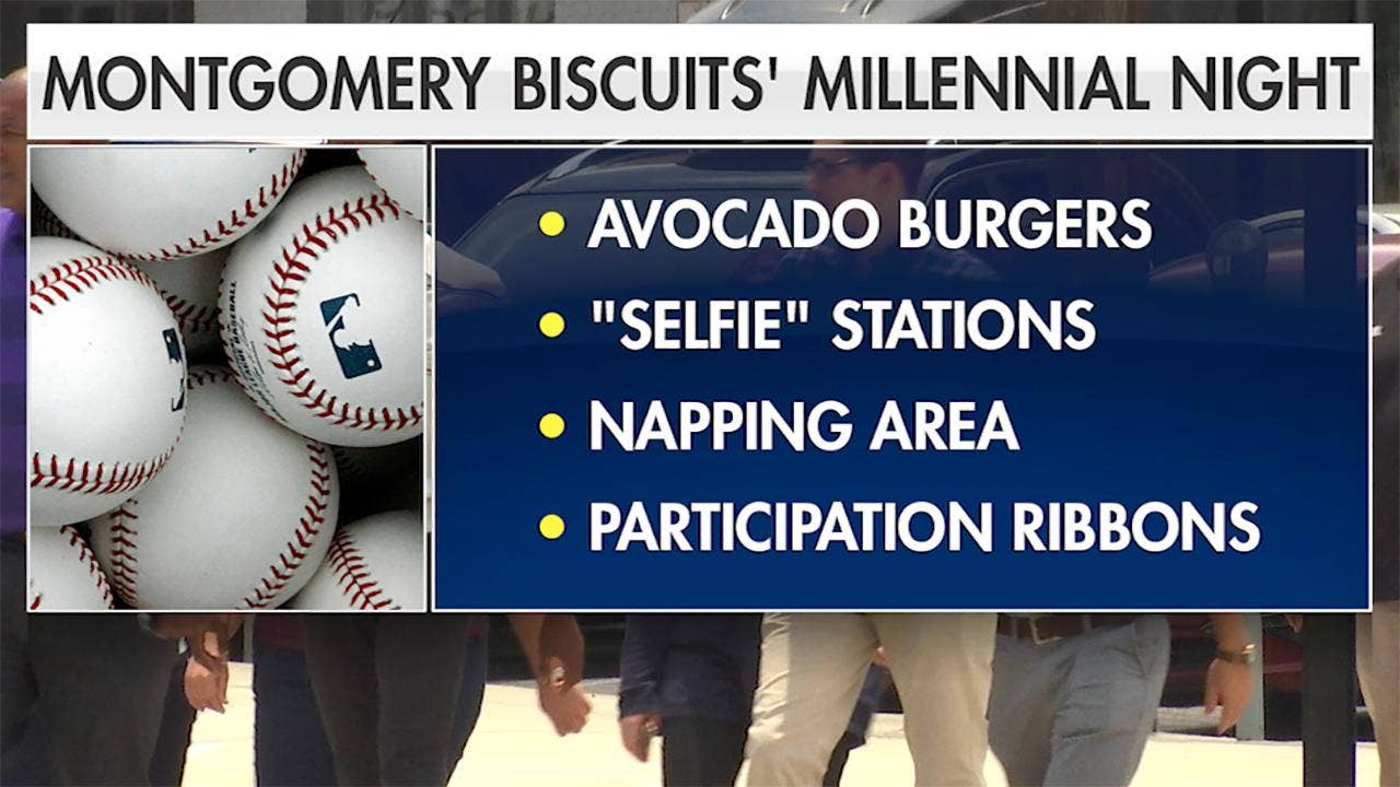 Millennials outraged after baseball team advertises 'Millennial Night' with avocados, participation ribbons and napping stations thumbnail