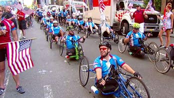 Cycling event to benefit Wounded Warrior Project kicks off on 'Fox & Friends.'