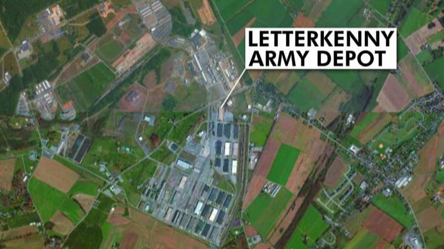 Employees instructed to stay away from the main entrance at Letterkenny Army Depot.