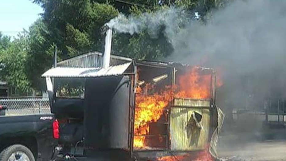 Community raises money for veteran's burned down BBQ trailer