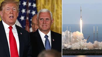 A half-century after two Americans became the first men to land a spacecraft on the moon, the U.S. relies on Russia to get its astronauts into orbit; correspondent Kristin Fisher reports.
