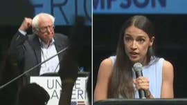 "When Democratic socialists Alexandria Ocasio-Cortez and Bernie Sanders rallied for a left-wing congressional candidate Friday afternoon in Kansas, they insisted their agenda is now the  ""mainstream."""
