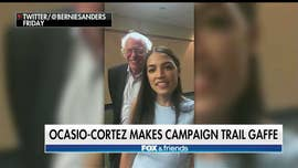 Democratic House nominee Alexandria Ocasio-Cortez appeared to get her political colors mixed up on Friday, when she said in a video that she wanted to turn a Kansas House seat red.