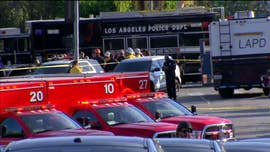 At least three people were shot, at least one of them fatally, when a suspect erupted in violence at home and then drove to a Trader Joe's store in Los Angeles on Saturday afternoon and held dozens of store employees and customers hostage.