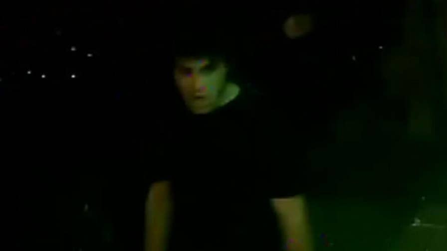 Video shows suspect fleeing after attacking man.