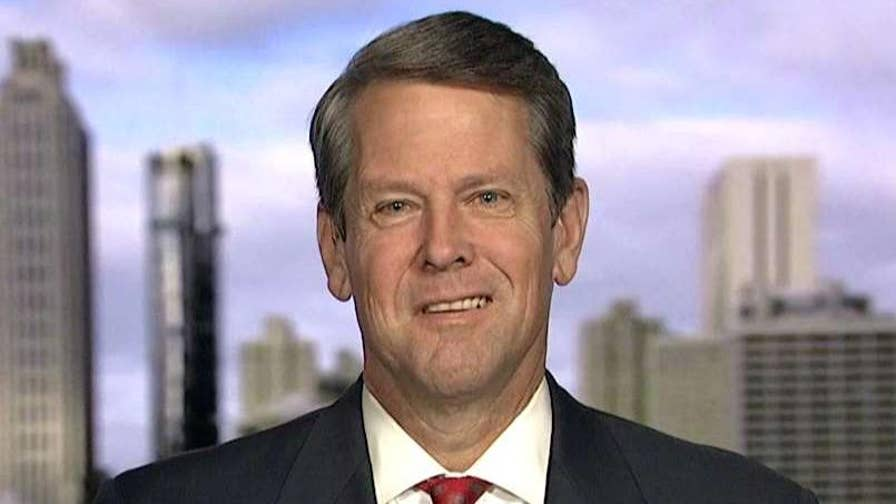 Republican Georgia gubernatorial candidate Brian Kemp backed by Trump, Pence.