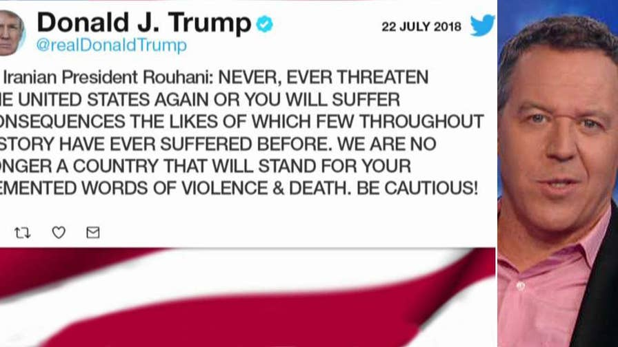 Trump responds to Iran's president and predictably the media freak out.
