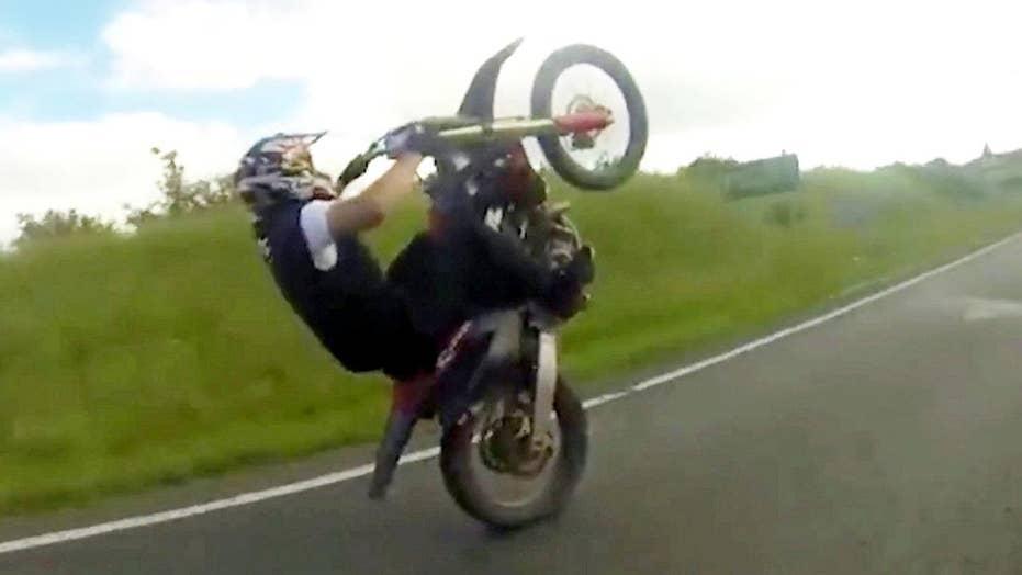 Shocking video: Man's 189 mph highway ride