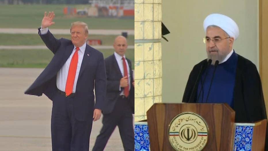 Donald Trump's threatening tweet to Iran's Hassan Rouhani