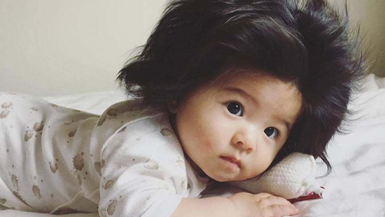 japanese baby with major hair goes viral fox news