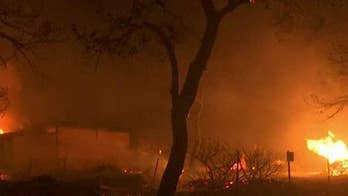 Flames burn out of control near Athens.
