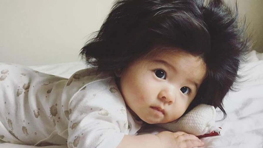 "Baby Chanco, an adorable 7-month old girl from Japan has stolen the internet's heart with her incredible full head of hair. Her Instagram account, labeled ""hair diary"" now has over 100,000 followers."