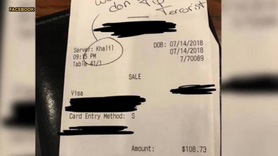 Texas waiter latest to fake 'racist' receipt to get sympathy